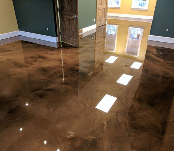 Metallic Epoxy Floor Plano